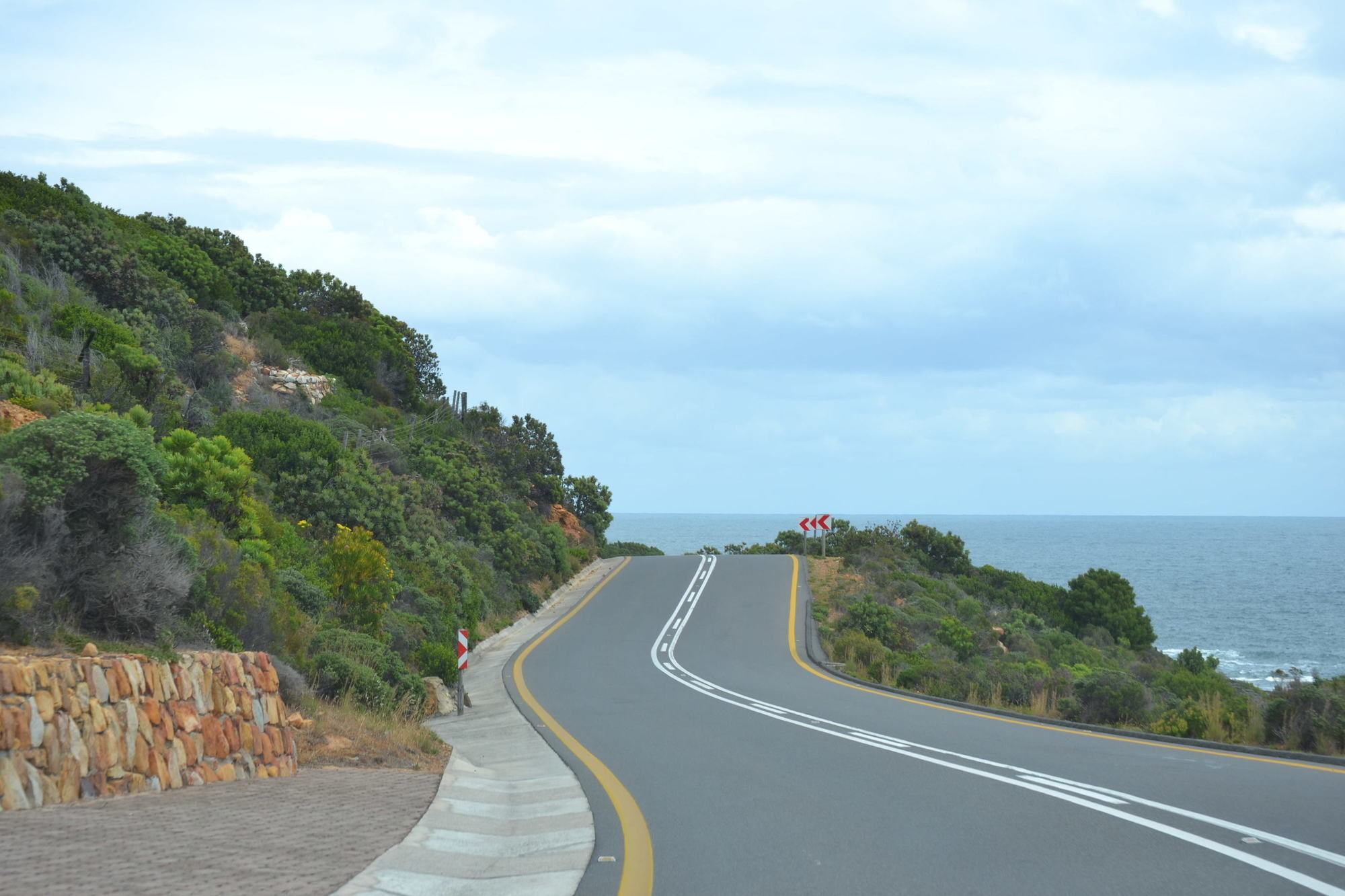 Road beside the sea