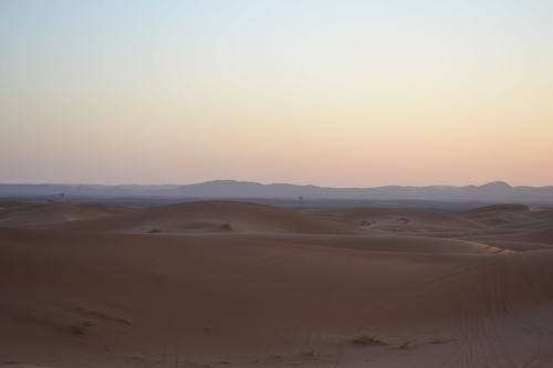 Amazing Colours of the Sky in the Moroccan Desert, Landscape