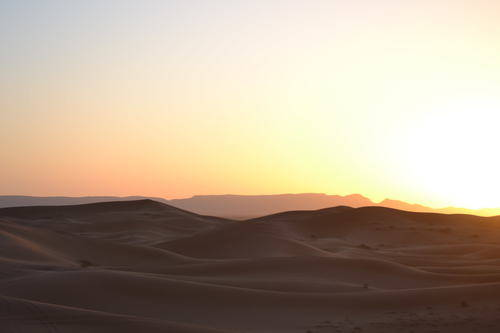 Sunset in the Deserts of Morocco, Landscape
