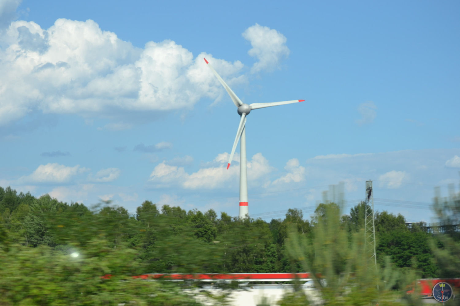 Wind Turbine & Trees in Rome, Italy, Landscape