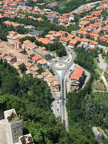 Buildings & Houses in the City in San Marino, Italy