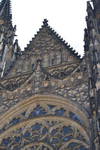 Architectural details on a cathedral