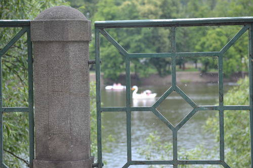 Bridge details and swans