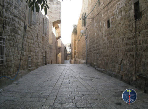 Stone-paved alleyway