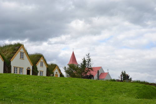 Houses with grassy roofs