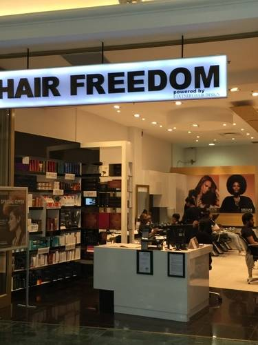 View of Hair Freedom's Show Window in Milnerton/Blouberg