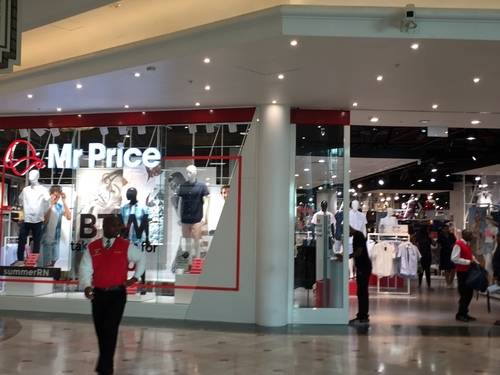 Show Window of Mr Price, A Clothing/Apparel Store in Cape Town, South Africa