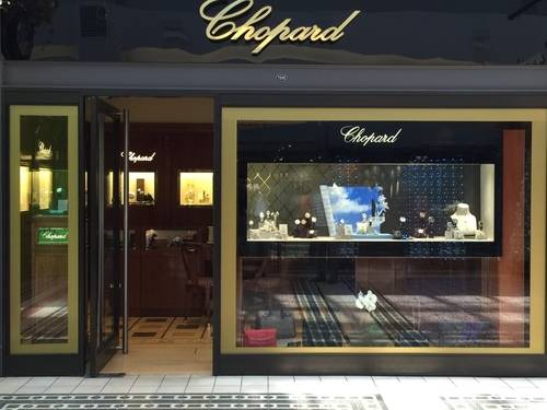 Show Window of Swiss Watches by Chopard at V & A Waterfront