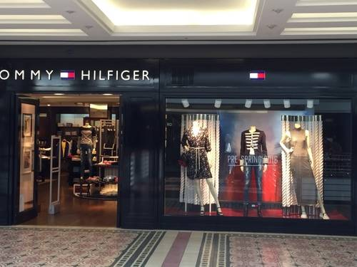 Show Window of TOMMY HILFIGER at V & A Waterfront, Cape Town