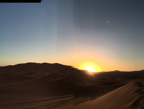 Golden Sunset of Moroccan Desert