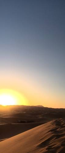 Terrific Sunset in Moroccan Desert