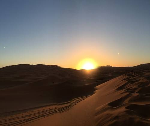 Dusk at Moroccan Desert