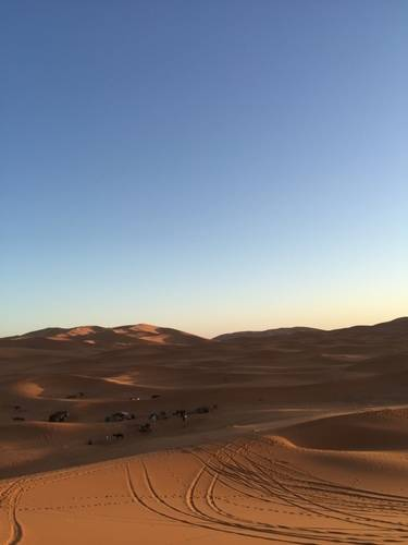 Shadows and the Sand of Moroccan Desert