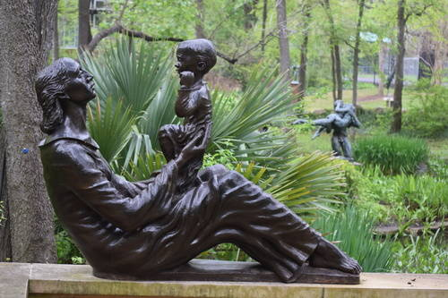 UMLAUF Sculpture - Mother & Child