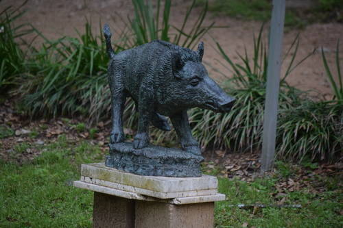 UMLAUF Sculpture - Wild Boar
