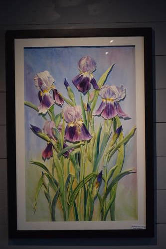 Lady Bird Johnson Wildflower Center - Paper Sculpture of Purple Irises