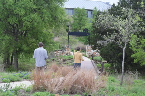 Lady Bird Johnson Wildflower Center - Visitors on a Walkway