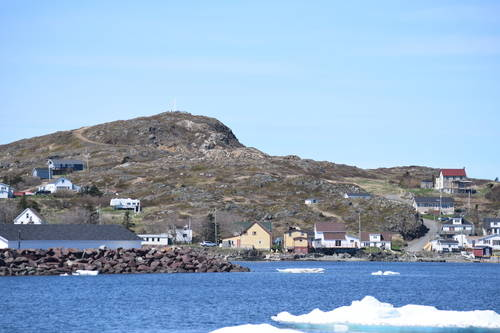 Houses Beside the Water and Mountain in Newfoundland