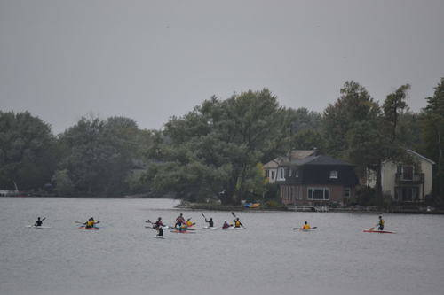Kayaking in Lake Wilcox