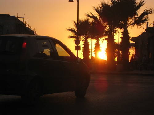 Sunset & Car Driving in Israel