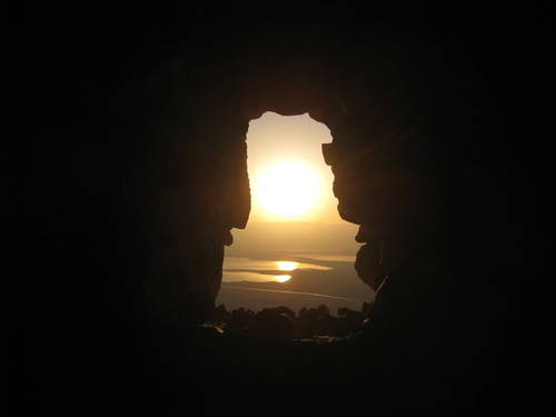 Sunset into the Cave
