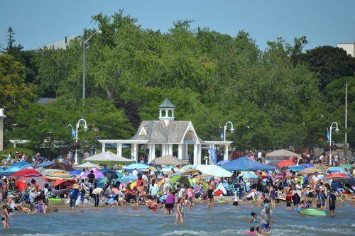 People on the Beach, Cobourg Sandcastle Festival