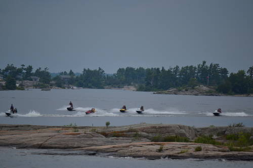 Skidoo's Racing Through the Georgian Bay