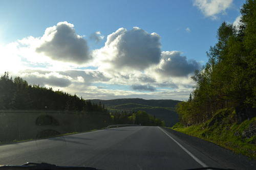 Driving On The Roads Of Rocky Harbour, NewfoundLand and Labrador, Canada, Landscape