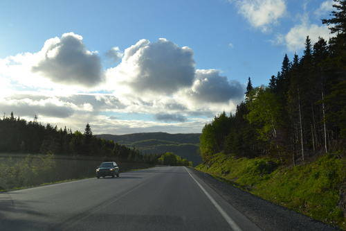 Driving On The Roads Of Rocky Harbour, NewfoundLand