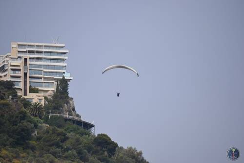 Parachuting Over the Mountains of Monte Carlo, Monaco