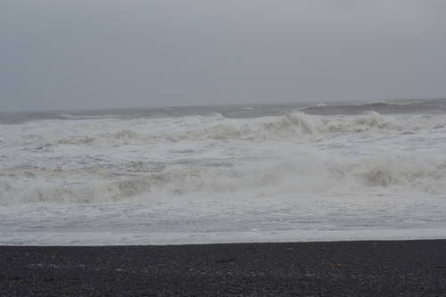 Big Waves on the Beach of Iceland, Seascapes