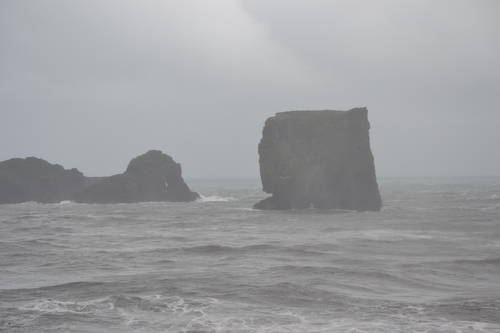 Rocks Formations on the Ocean in Iceland, Nature