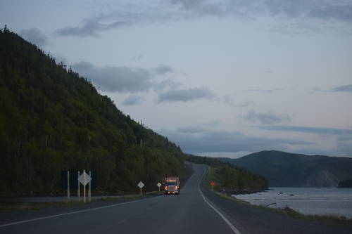 Rocky Harbour, Newfoundland Roads, Trees & Mountains, Landscape