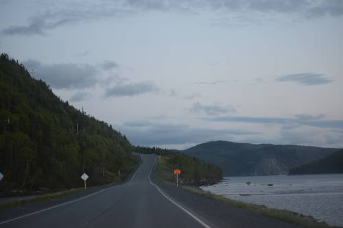 Winding Road Beside the Water in Rocky Harbour, Newfoundland & Labrador, Canada