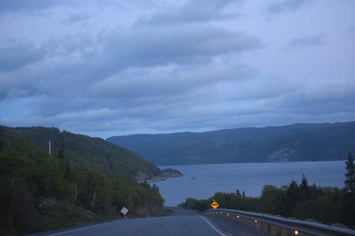 Road Beside the Mountains & Hills of Rocky Harbour, Newfoundland and Labrador, Canada, Landscape