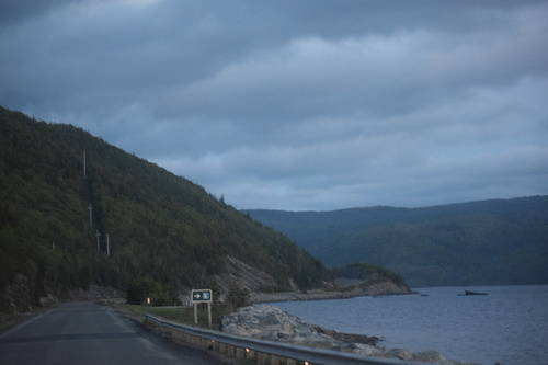Hills & Roads Beside the River in Rocky Harbour, Newfoundland and Labrador, Canada