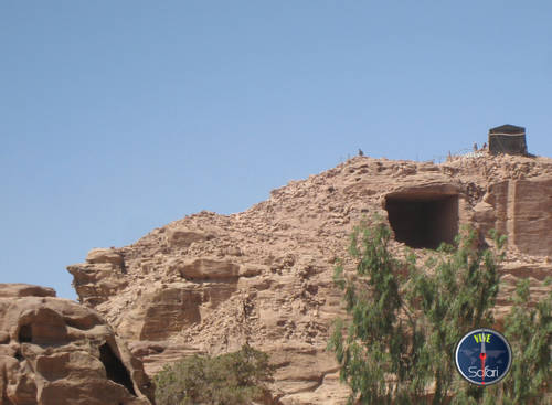 Caves in the Mountains of Petra and Wadi Rum, Jordan