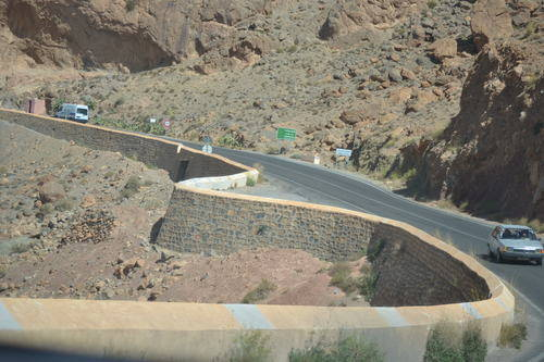 Curvy road in Morocco