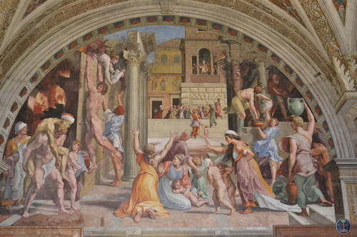 Painting Inside of a Building in Rome, Italy