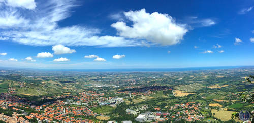 Panoramic Landscape of San Marino, Italy