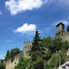 Architecture of the Castle in San Marino, Italy