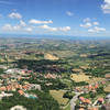 Landscape of San Marino, Italy, Panoramic
