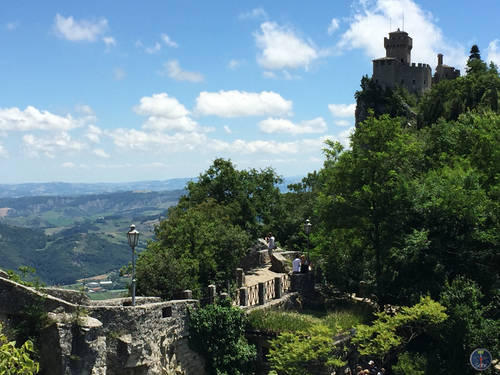 Top of the Castle in San Marino, Italy, Landscape