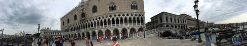 Panoramic Architecture of Venice, Italy