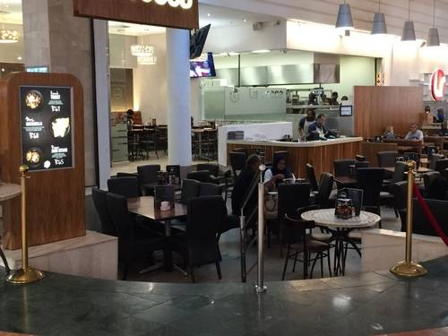 A Restaurant within the Shopping Mall of Cape Town
