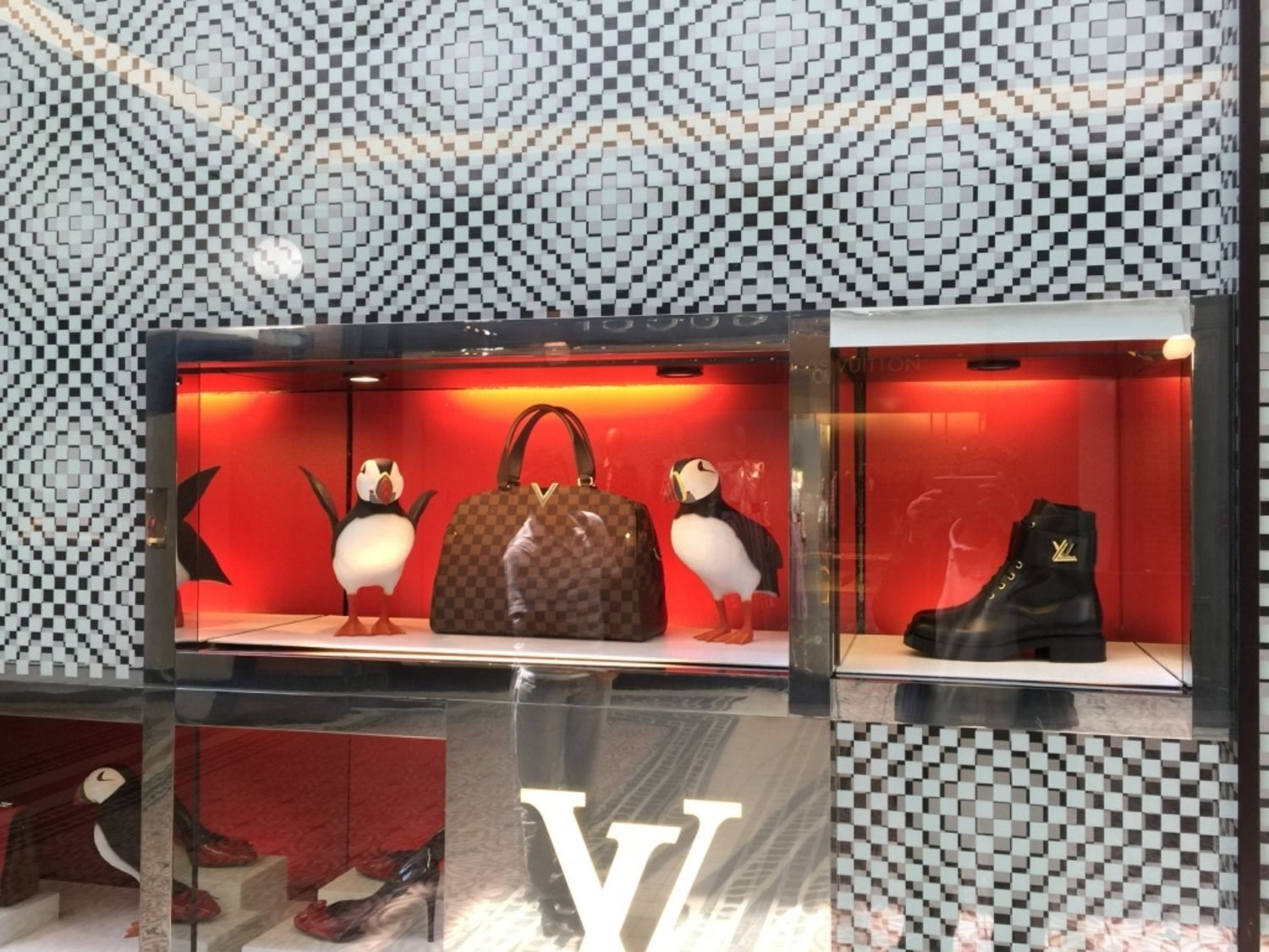 3795ddb76b0 Yet another beautifully designed Show Window of LOUIS VUITTON at V   A  Waterfront Mall