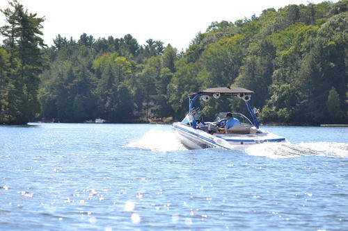 Boat on Lake Muskoka