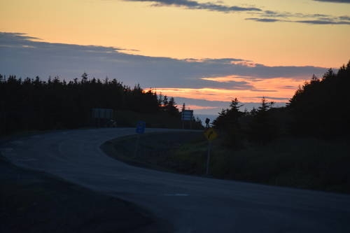 Winding Road & Sunset in Rocky Harbour, Newfoundland, Landscape