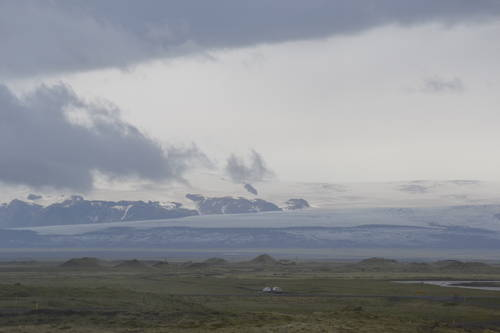 Snowy Mountains & Clouds in Iceland, Landscape