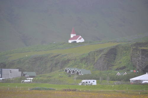 Houses & Buildings on the Hills & Mountains of Iceland, Landscape